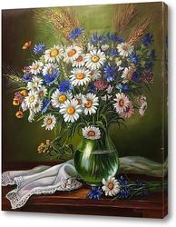 Постер Ромашки в стеклянной вазе