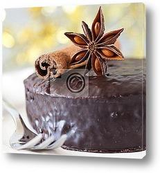 Постер Свежий шоколадный торт