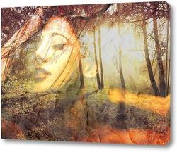 Картина Лесная нимфа