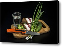 Натюрморт с ножом