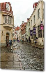 Постер Таллин старый город улица