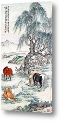 Картина Пять лошадей