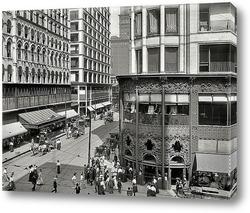 Постер Мэдисон и Стейт стрит, 1907