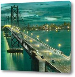 Постер Сан франциско, мост.
