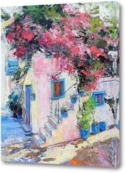 Картина Цветущий дворик