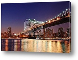Manhattan Bridge sunset New York City