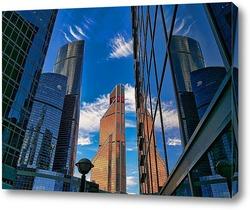 Постер небо и небоскребы-6