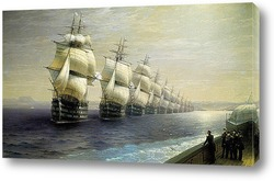 Смотр Черноморского флота в 1849 г
