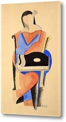 Постер Сидящая женщина