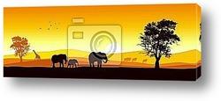 Постер Stock vector of African wildlife