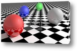 Постер Абстракция на шахматную тему