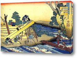 Обратная сторона Фудзи. Вид со стороны реки Минобугава