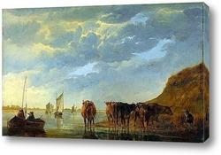 Пейзаж со стадом
