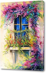 Картина Цветущий балкон