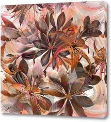 Постер Букет с лилиями