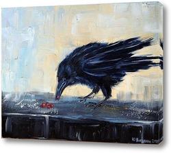 Картина ворона