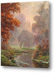 Осенний пейзаж с коровами
