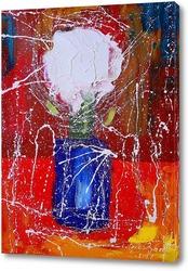 Постер Цветы в синей вазе
