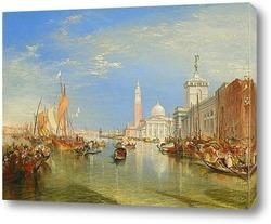 Картина Венеция: Dogana и Сан-Джорджо Маджоре