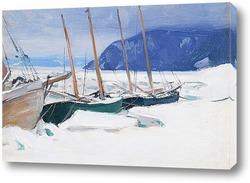 Картина Шхуны в льдинах