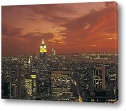 Города ночью. Нью-Йорк