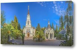 Постер Панорама храмового комплекса Свято-Михайло-Архангельского собора в Сочи