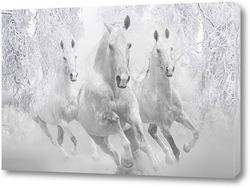 Картина Зимние лошади