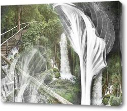 Постер Водопад абстракция