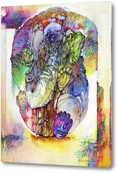 Постер Психоделический слон