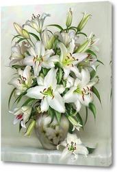 Девыть белых роз