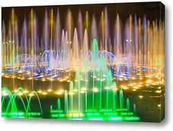 Постер Яркий фонтан в усадьбе Царицыно