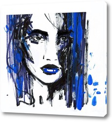 Картина Dark blue
