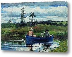 Постер Синяя лодка