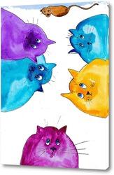 Картина Коты и мышь