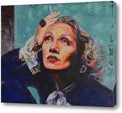 Картина Марлен Дитрих.