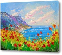 Картина Маки у берега