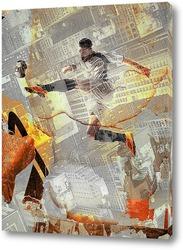 Постер Футболист на тренировке