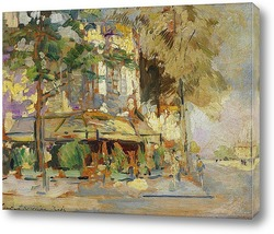 Postcard from Italy. - Rain in Venice.