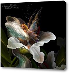 Постер Фея и цветок
