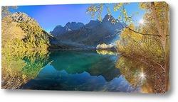 Постер Первые утренние лучи на озере Кардывач
