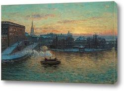 Постер Королевский дворец в Стокгольме.