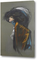 Постер Женщина в шляпе