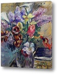 Постер Тюльпаны, сирень и Калла