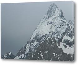 Snow on the Dolomites Mountains, Italy
