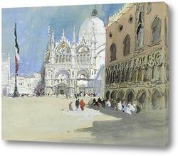 Гондолы недалеко от базилики Святого Марка, Венеция