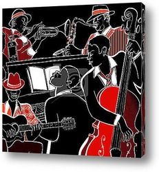 Векторная иллюстрация Джаз фортепиано и контрабаса