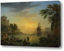 Картина Пейзаж на закате