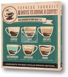Постер Винтажный плакат с кофе