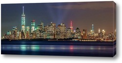 New York City skyline- Brooklyn Bridge