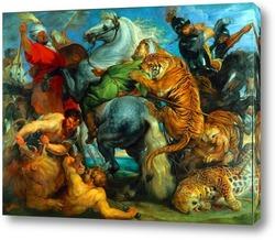 Картина Тигр, лев и леопард, 1616